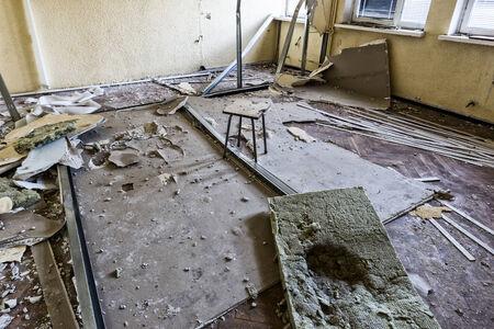 devastated: Devastated room designed for renovation