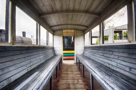 station wagon: The old station wagon interior