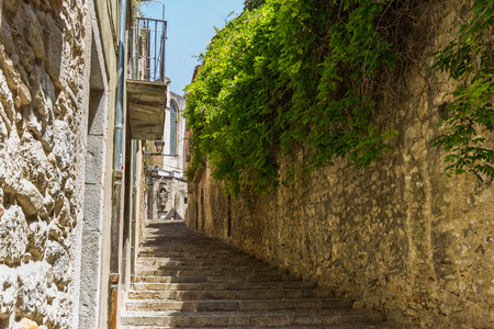 Old streets in Girona, Spain