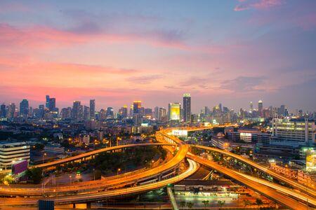 Bangkok city downtown view.