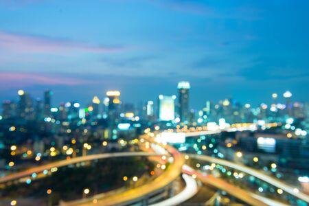 Bangkok city abstract burry view.