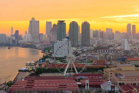 Bangkok city skyline in the morning Stock Photo