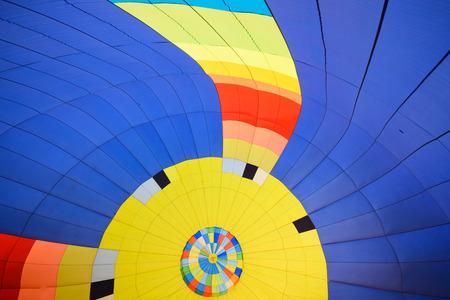 Inside balloon in festival.