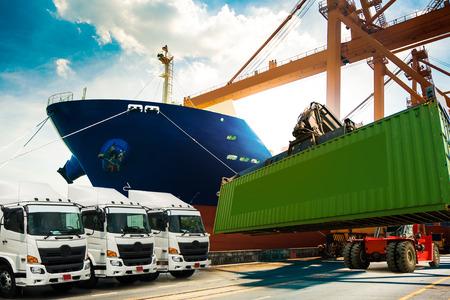 Shipping logistics background