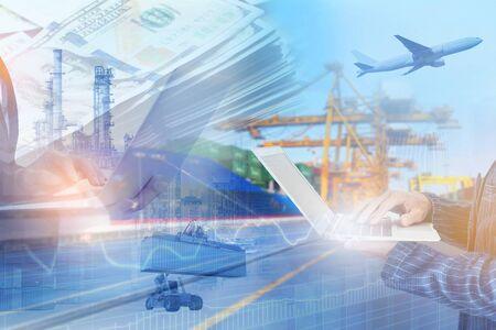 Mehrfachbelichtung von Geschäftsaustauschkonnektivitätsinformationen des Versandmanagementkonzepts für die industrielle Logistik logistics
