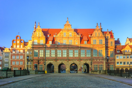 Green Gate in Gdansk the formal residence of the Polish monarchs