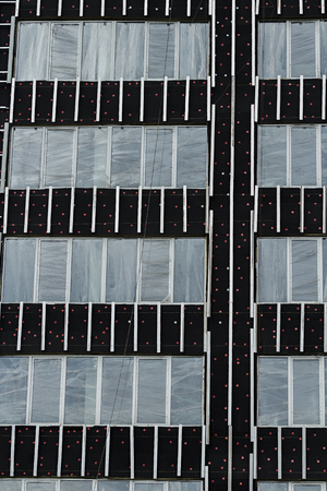 apartment block: Synthetic thermal covered facade of insulation material of apartment block city building