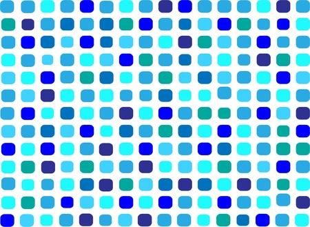 bad fliesen: Blaue Mosaik Illustration