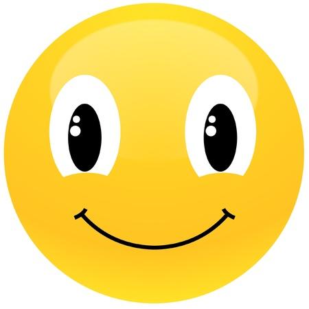 smiley content: smiley jaune Illustration