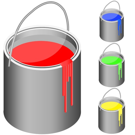 descriptive colour: bucket with paint