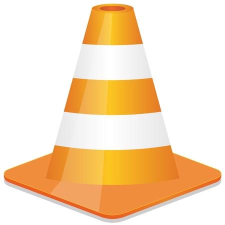 orange traffic cone Vector