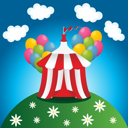 red circus tent Vector