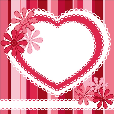 scrap booking: background for valentine