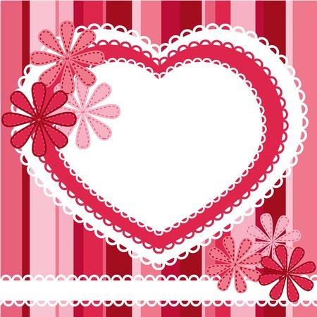 scrap: de fond pour valentine Illustration