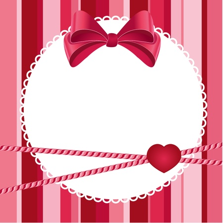pink scrap background with bow Vector