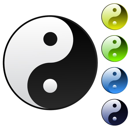 Background yin-yang symbol Vector