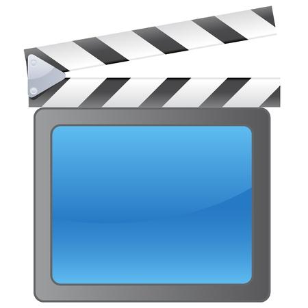 clap board: Cine de fondo de pizarra Vectores