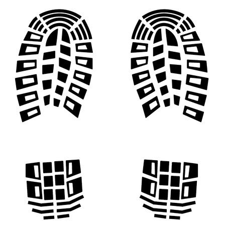 shoe print: black footstep background