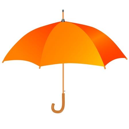 オレンジ色の傘のアイコン  イラスト・ベクター素材