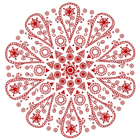 indian pattern: ornamental round lace