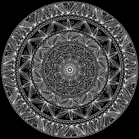 kaleidoscope: Hand-made ornamental round lace  Illustration
