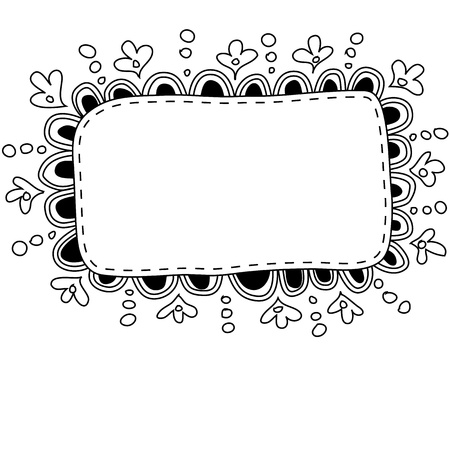 Hand made doodle frame Stock Vector - 15148511