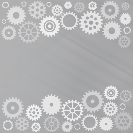 Grey gear background Stock Vector - 15276443