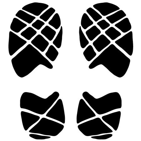 Footstep icon  イラスト・ベクター素材
