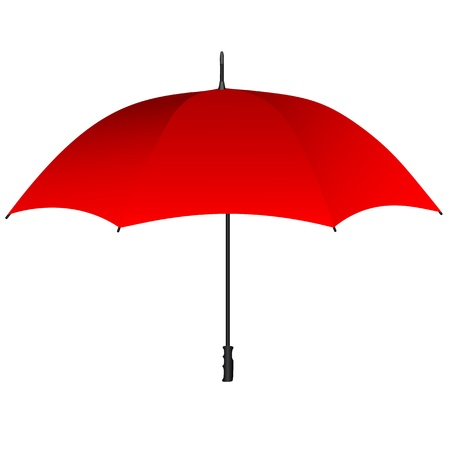 nylon: Red umbrella icon Illustration