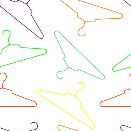 гардероб: Корзина бесшовные узор с вешалки