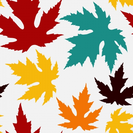 Seamless pattern with maple leaves Vector