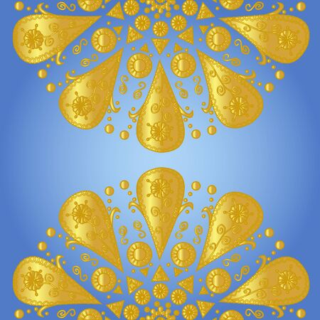 Blue background with ornamental lace  Stock Vector - 16900341