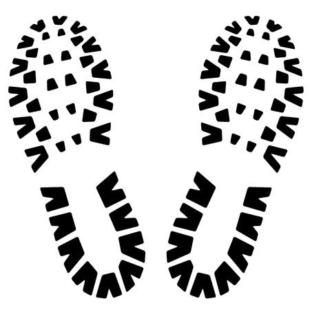 footstep: Footstep icon Illustration