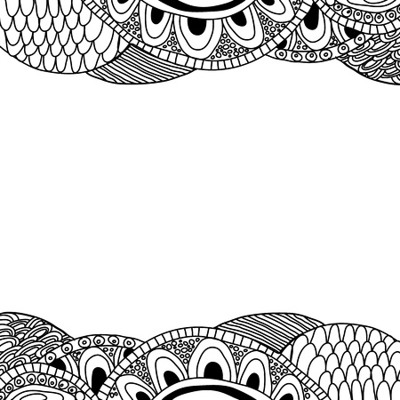 Doodle background  black and white