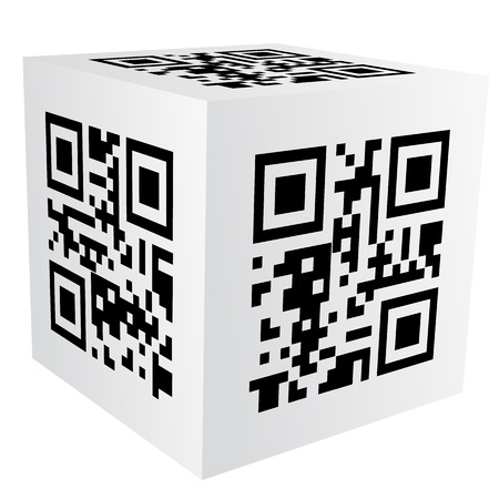cube with qr code Stock Vector - 18154732