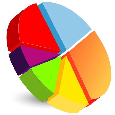 Cirkeldiagram pictogram Stock Illustratie