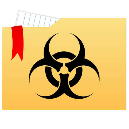 File folder with bio hazard sign Vector