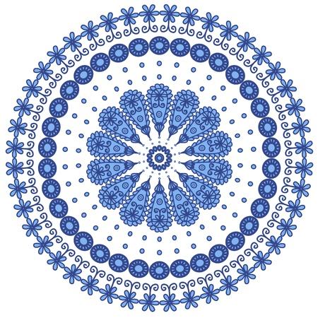 Blue round lace Illustration