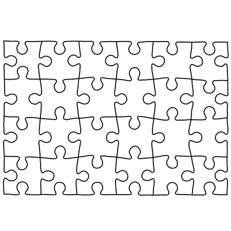 Puzzle template. Background for your business presentation.  イラスト・ベクター素材