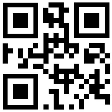Black qr code says