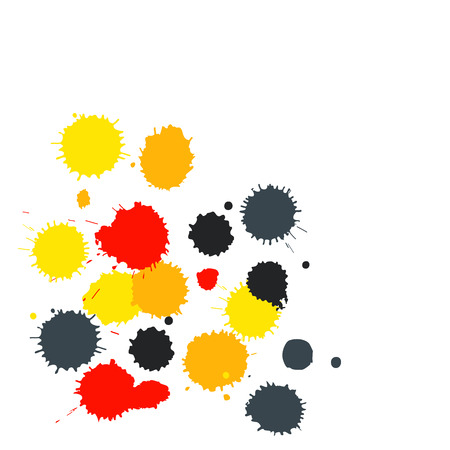 paint splat: Blot background with copy space