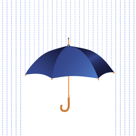 Umbrella icon with rain Vector