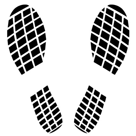 Black footprint icon Vector