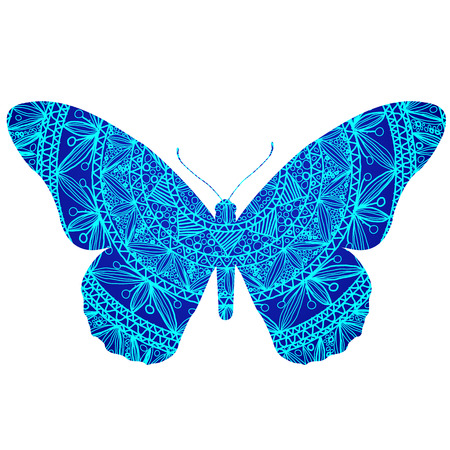 mariposa azul: Blue Butterfly  Vectores