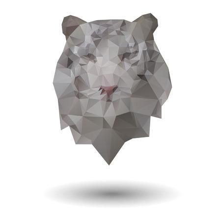 triangles: Triangle tiger icon Illustration