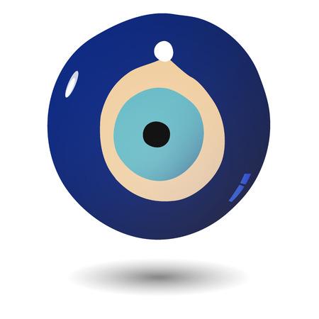 Illustration of Turkish evil eye bead