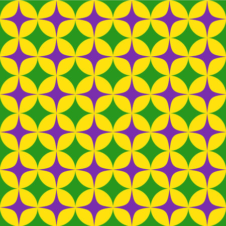 Seamless mardi grass abstract pattern Vector