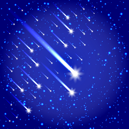 Space background with stars and comets