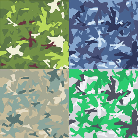 Set of camouflage military background. Seamless pattern Illustration