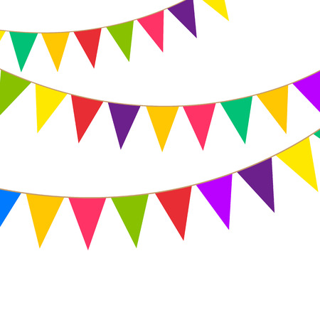 Party bunting Illustration
